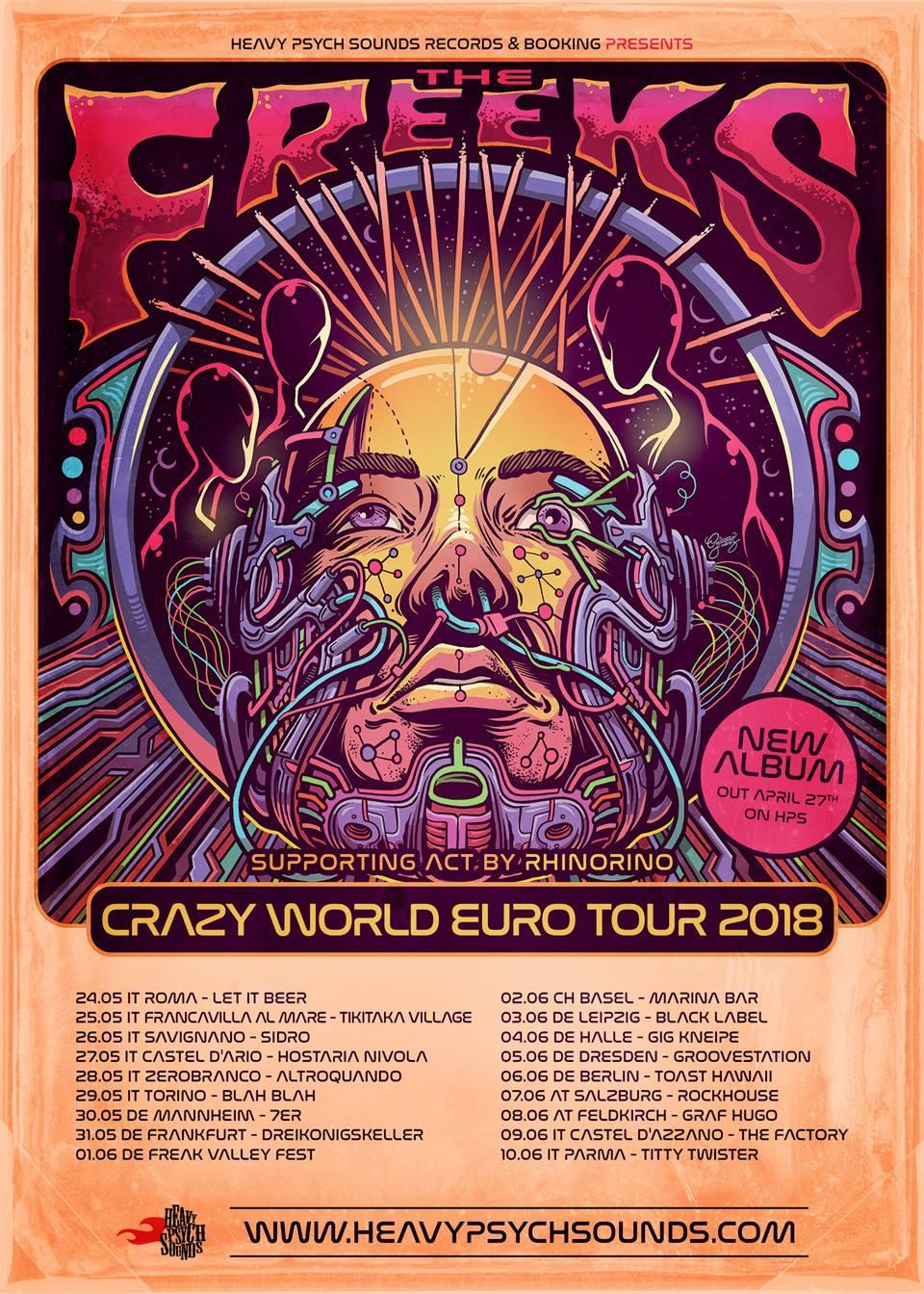 Support Tour - The Freeks Crazy World  EU